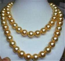 """Real 8mm gold south sea shell pearl necklace 36"""" AAA"""