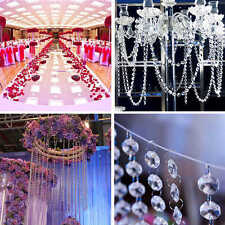 5 Strings Crystal Clear Acrylic Bead Garland Chandelier Hanging Wedding Supplies