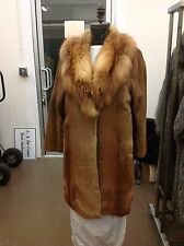 FENDI AMAZING RARE PONY SKIN & NATURAL RED FOX COAT ORIGINALLY $32,000 MINT