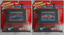 "Johnny Lightning Billboard - 1970 & 2002 Chevy Monte Carlo ""Yesterday & Today"""