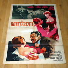 GLI INDIFFERENTI manifesto poster Rod Steiger Claudia Cardinale Shelley Winter
