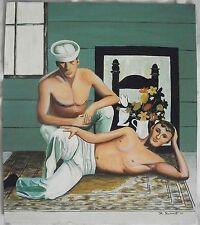 1970's gay interest sailors painting by R.Schimdt