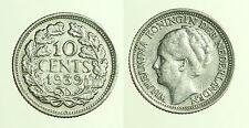 pcc1250_9) OLANDA 10 CENTS 1936 WILHELMINA I