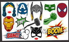 DIY DIGITAL Super Heroe photo booth props NO PHYSICAL ITEM