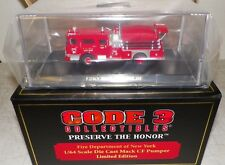 CODE 3 COLLECTIBLE PRESERVE THE HONOR DIECAST FDNY MACK CF PUMPER 1:64 NIB 12336