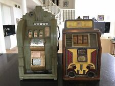 Vintage 1930's Mills Extraordinary & Caille bros Silent Sphinx slot machines