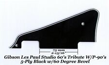 Les Paul LP Studio Black 5-Ply P-90's Pickguard Gibson Epiphone Project 60 Edge