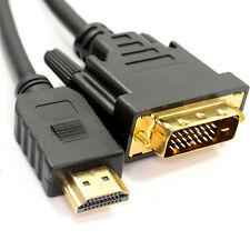 2m HDMI Male To DVI-D/DVI-I Plug Cable/Lead – Digital Monitor–Laptop TV PC 1080P