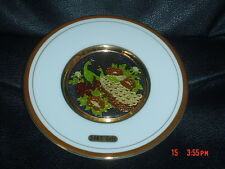 "Simco Art-Ware Japan THE ART OF CLOISONNE 6"" Plate Peacocks"