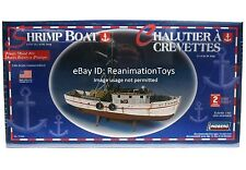 Lindberg Fishing Shrimp Boat 1/60 Scale Model Kit for HO Train Harbor Layout New