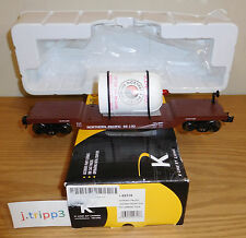 K-LINE LIONEL 6-22316 NORTHERN PACIFIC NP FLAT CAR WATER TANK O GAUGE TOY TRAIN