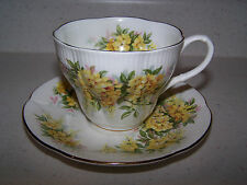 ROYAL ALBERT BLOSSOM TIME SERIES LABURNUM  - BONE CHINA CUP AND SAUCER