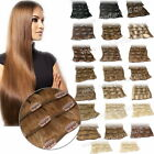 35, 45, 55, 60cm 7 Tressen Clip In Set Remy Echthaar Extensions Haarverlängerung