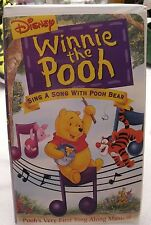 DISNEY WINNIE THE POOH, SING A SONG WITH POOH BEAR VHS TAPE CLAM SHELL