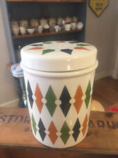 Vintage TG Green Roulette Large Lidded Kitchen Storage Jar / Canister – Retro!