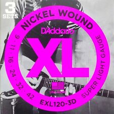 D'addario 3 Sets EXL120 9-42 3D Regular Light Strings Pack Ships Worldwide