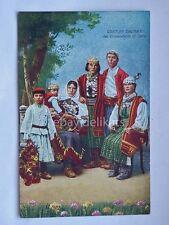 ZARA Costumi dalmati Dalmazia AK vecchia cartolina *