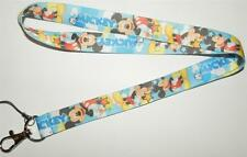 MOBILE PHONE/IDENTITY CARD LANYARD NECK STRAP PALE BLUE MICKEY MOUSE