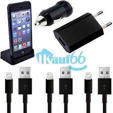 6in1 Ladekabel Ladegerät KFZ USB Kabel Stecker Station für Original iPhone 5S 5