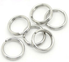 "1000 Silver Tone Stainless Steel Split Rings 7mm(1/4"")"
