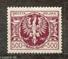 Poland 1923  -  Mi. 179 **  ( large eagle in the oval )