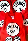 DR SEUSS THING ONE 1 2 3 4 5 6 T SHIRT THING 2 THING 3 4 5 6 YOUTH ADULT TODDLER