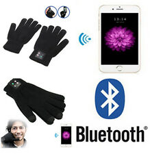 Black Bluetooth Touch Screen Gloves Call Mobile Headset Speaker For Smart Phone