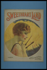 305068 Sweetheart Land Copyright 1919 A4 Photo Print