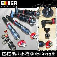 96-97 BMW 318is Base Coupe 2D 1.9L Full Coilover Suspension Lowering kits Red