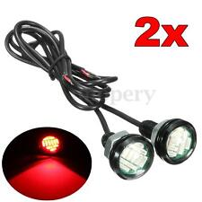 2x Motorcycle 12 LED Eagle Eye Daytime Running Brake Light Lamp Bulb DRL Red