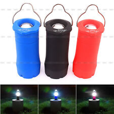 Portable Outdoor Camping Hiking 3W Tent Lantern Light Fishing Lamp LED Torch NEW