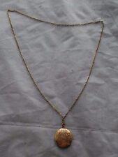 Antique Victorian 10k solid gold locket+chain