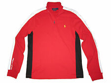Polo Ralph Lauren Red Black White Pullover Athletic Pima Training Jacket Large