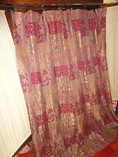 CROSCILL GALLERIA RED SHOWER CURTAIN GOLD UMBER RED TUSCAN OLD WORLD 70 X 74