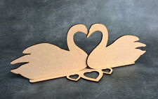 Swan Hearts Freestanding Centrepiece Wedding Sign - Laser Cut mdf Craft Shapes