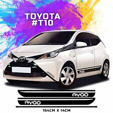 Toyota Aygo Side Racing Stripes Decal Graphics /Tuning Car Size 154 x 14cm