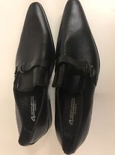 4 GENTLEMAN SHOES - NEW FASHIONABLE MENS POINTY BLACK LEATHER LIKE MATERIAL