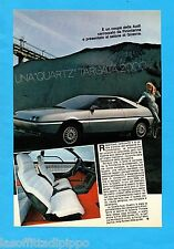 ALTOP981-PUBBLICITA'/ADVERTISING-1981- AUDI - QUARTZ-AUDI-QUATTRO