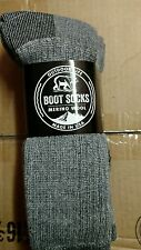 3 pair Mens Merino Wool Thermal Boot Socks 10-13 Gray Outdoor Life Cabela's