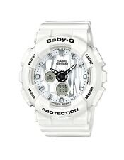 Casio Baby-G * BA120SP-7A Scratch Pattern Glossy White Anadigi Watch COD PayPal