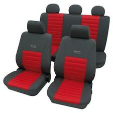 Sports Style Car Seat Covers - Grey & Red - For Honda Civic Vii 2005 Onwards