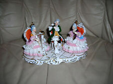 CLOSE OUT SALE! LOVELY VINTAGE/ANTIQUE MUSICAL DRESDEN FIGURINE 9X5X5