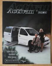 Ricon ACTIVAN FORD WINDSTAR conversione BROCHURE PROSPEKT CATALOGO 1998
