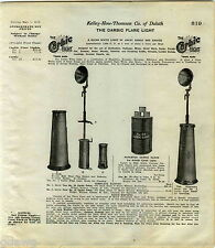 1916 ADVERT Carbic Flare Light Railroad Mine Miners Use Calcium Carbide Lamp