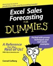 Excel Sales Forecasting For Dummies by Carlberg, Conrad