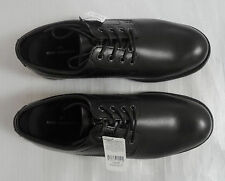 M&S Men UK10.5/EU45 Black Leather Lace Up Gibson Shoes, BNWT