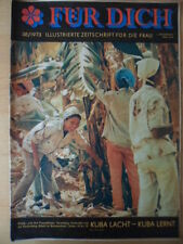 FÜR DICH 38/1973 Kuba Waffenbrüder Bansin Pferdezirkus Mode für 40-50Jährige