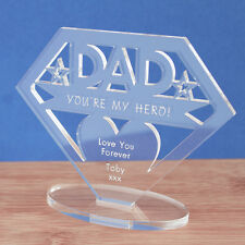 Personalised MUM or DAD Your My Hero Keepsake Mothers Fathers Day Birthday Gift