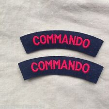 Excellent WW2 British Army Commando Cloth Battledress Shoulder Titles