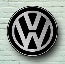 VOLKSWAGEN LARGE 2FT GARAGE WALL SIGN PICTURE VW LOGO VEE DUB CAMPER GOLF GTI